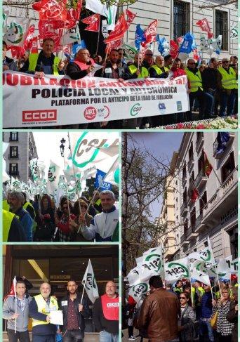 Concentración Policías locales Cantabria 6/4/18