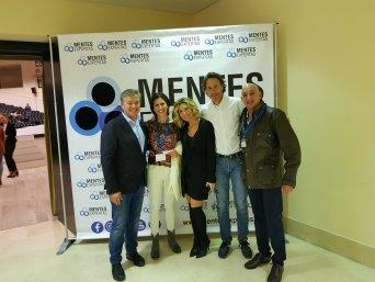 Los directores de Mentes Expertas con miembros de CSIF-Huelva y Víctor Küppers