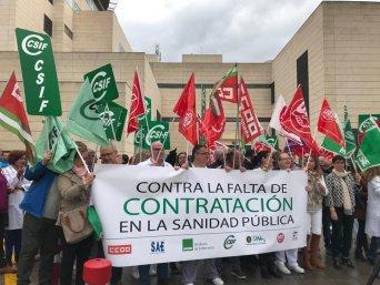 Concentraciones ante la falta de personal y la precariedad laboral que sufren los trabajadores del SAS