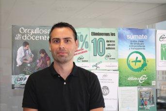 Raúl Almonacid, delegado de CSI·F Educación Comunidad Valenciana