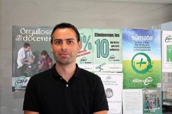 Raúl Almonacid, delegado del sindicato CSIF en Educación