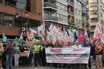 Protesta hoy en Valencia