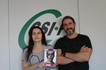 Eva García y Enrique Arrúe, autores del libro junto a Mari-Carmen Pérez.