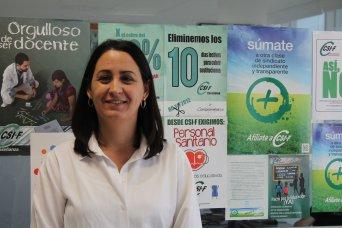 María Amparo Valero, delegada de CSIF Educación Comunidad Valenciana