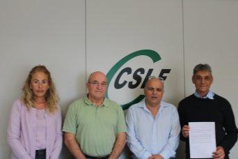 Dirigentes de CSIF Sanidad con representantes de la plataforma pro hospital