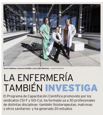 Programa de capacitacion cientifica de Csif (Diario de Burgos Nov 2017)