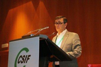 Enrique Estévez, presidente de CSIF Cádiz