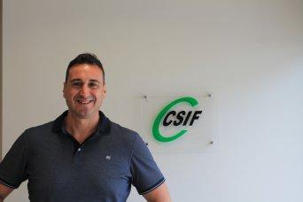 José Luis Sáez, portavoz de CSIF Seguridad  Privada