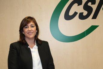 Estela Hontanilla, presidenta de CSI·F Educación Valencia