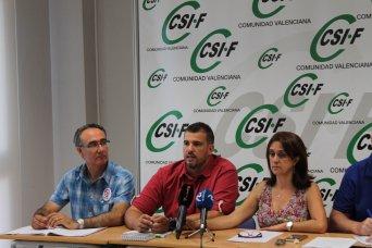 Rueda de prensa en CSI·F de trabajadores de prisiones