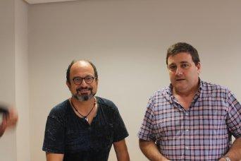 Javier Mas y Javier Tovar, delegado de Educación y presidente de CSIF Alicante