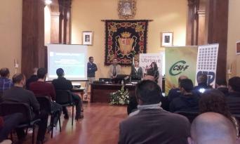 responsable Área Seguridad Admón. Local Andalucía, Jesús Blandón y concejala de seguridad ciudadana de Ubrique, Virginia Bazán