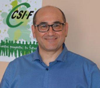 Julio Culebras, representante de CSIF en el Comité de Seguridad y Salud Laboral de la provincia de Valencia