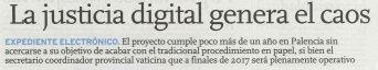La justicia digital genera el caos antes de llegar al papel cero (Diario Palentino)