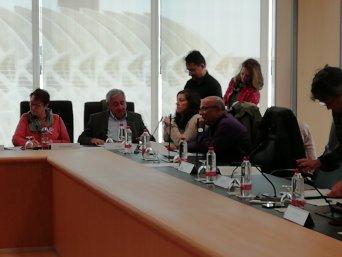 Imagen al inicio de la reunión de la Mesa General