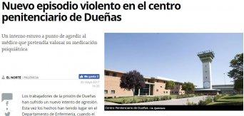 Nuevo episodio violento en el centro penitenciario de Dueñas (Norte de Castilla)