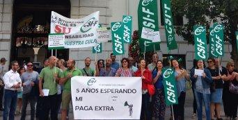 CSIF aplaude el pago de la paga extra de 2012 a los trabajadores municipales tras años de protestas y reivindicaciones