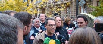 Personal de Administración General del Estado protesta en apoyo a los trabajadores de prisiones tras seis jornadas de huelga