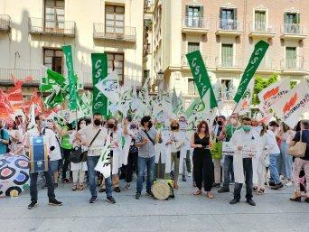 Protesta ante Presidencia de la Generalitat