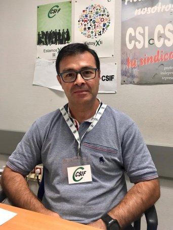 Quique Martínez, portavoz  de CSIF en Departamento de la Ribera