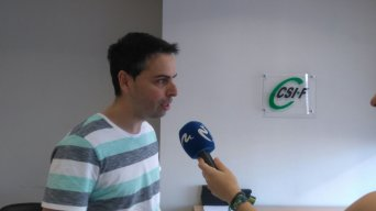 Raúl Almonacid, delegado de CSI·F, en declaraciones hoy a Mediterráneo TV sobre la capacitació lingüística