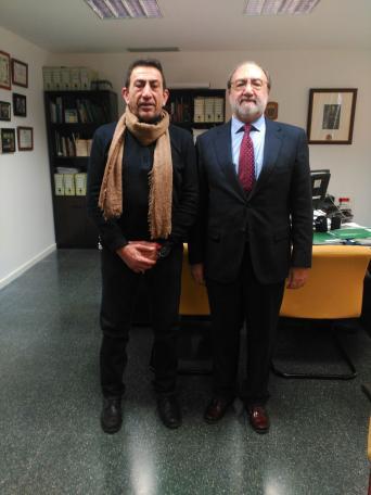 Jesús Blandón, responsable del Área de Seguridad del Sector de Administración Local de CSIF-A; Isidoro Beneroso, director de la Escuela de Seguridad Pública de Andalucía (ESPA)