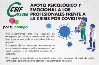 APOYO PSICOLÓGICO Y EMOCIONAL A LOS PROFESIONALES