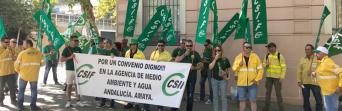 La presión y las movilizaciones de CSIF-A logran que la gerencia de la Amaya retome la negociación del convenio