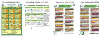Calendarios laboral, escolar y justicia