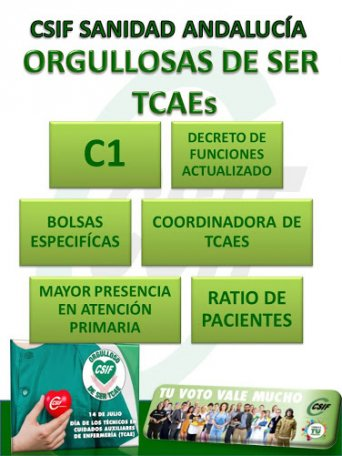 CSIF Sanidad Sevilla, orgullosos/as de ser TCAE's