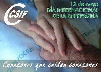 Cartel del Día Internacional de la Enfermería de CSIF Andalucía