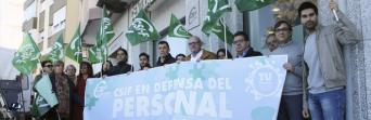 Concentración ante la sede de CSIF Cádiz