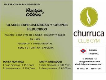 Oferta para afiliados de Churruca Club Gym