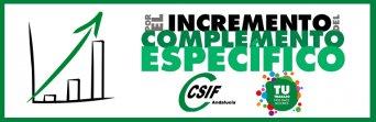 CSIF, por el incremento del complemento específico