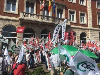 Concentración en Palencia para exigir condiciones dignas para el personal penitenciario (Norte de Castilla)