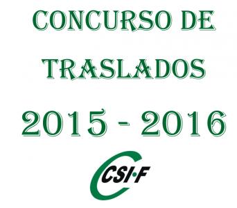 Concurso Traslados 2015-16