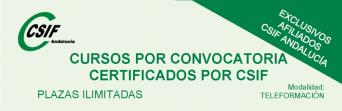 Cursos por convocatoria certificados por CSIF