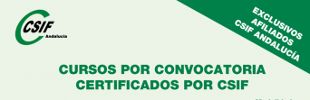 Nuevos cursos por convocatoria certificados por CSIF