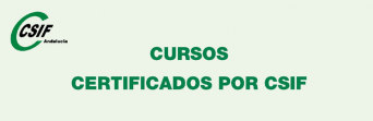 Cursos certificados por CSIF (1er. semestre de 2018)