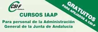 Cursos homologados del IAAP gratuitos para afiliados/as a CSIF de la Administración General de la Junta de Andalucía