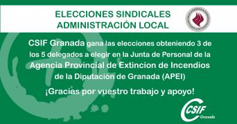 CSIF gana las elecciones en la Junta de Personal de la APEI