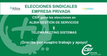 CSIF Granada, fuerza sindical mayoritaria en nuevas empresas de la provincia