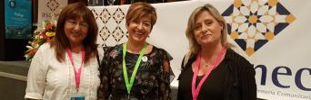 De izquierda a derecha: Lola Oliva, responsable de Sanidad de CSIF Málaga; Felisa Gálvez, presidenta de ASANEC y Eloísa Bernal, presidenta de CSIF Sanidad Andalucía