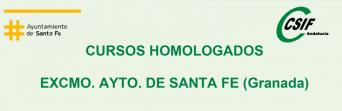 Cursos homologados del Excmo. Ayto. de Santa Fe (Granada)
