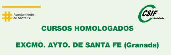 Cursos homologados de CSIF en colaboración con el Ayuntamiento de Santa Fe (Granada) - 1er. semestre de 2018