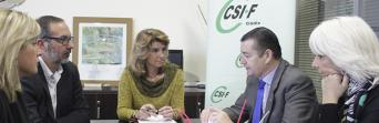 Un momento de la reunión entre CSIF Cádiz y PP