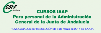 Cursos homologados del IAAP para personal de la Administración General de la Junta de Andalucía