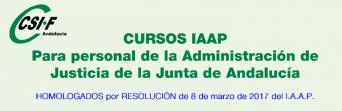 Cursos homologados del IAAP para personal de la Administración de Justicia de la Junta de Andalucía