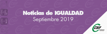 Igualdad | Noticias del mes: septiembre 2019