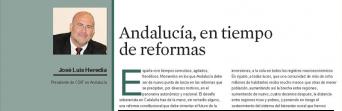 """""""Andalucía, en tiempos de reformas"""", por José Luis Heredia, presidente de CSIF Andalucía"""